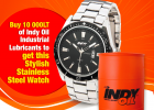 Win A Stylish Watch with Indy Oil!